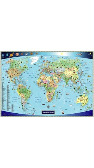 Buy illustrated map of the world for kids childrens world map illustrated map of the world for kids childrens world gumiabroncs Gallery