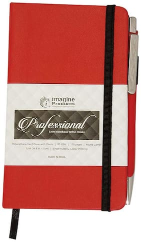 Imagine Products Slim Notebook - Red