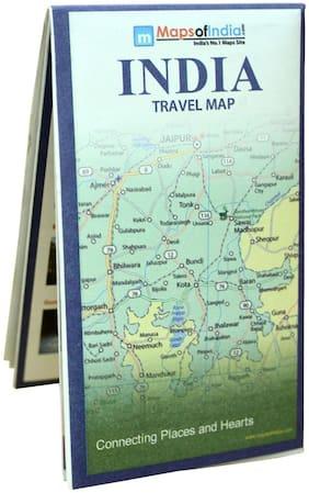 India Travel Map (70 x 84 cm ) Folded