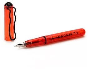 Inscripto Red Transparent Ink Pen with Refill