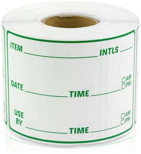 """Inventory Blank Labels Use By Date Item Number Count Manual Stickers (3""""x2"""",1PK)"""