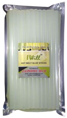 iwill 11 MM Transparent Hot Melt Glue Gun Sticks For Art and Craft Work DIY 25.4 CM Long (17 Sticks)