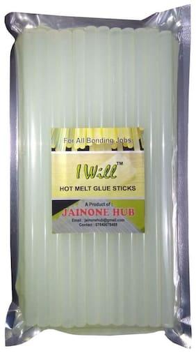 iwill Transparent Hot Melt Glue Gun Sticks For DIY Art and Craft  254 MM X 11 MM Extra Long Size