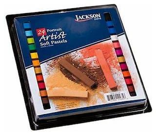 JACK RICHESON 400154 JACKSON ARTIST SOFT PASTEL 24 PIECE PORTRAIT COLORS