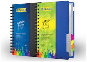 JALADHI 5 Subject Notebook Pack of 2 A5 Notebook Ruled 300 Pages