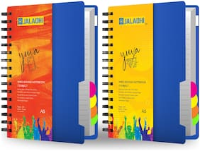 JALADHI 5 Subject Notebook Pack of 2 A5 Notebook Ruled 400 Pages