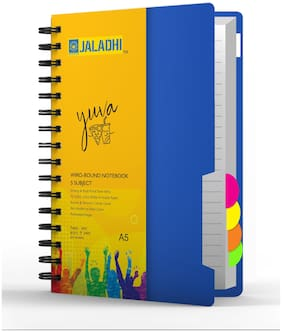 Jaladhi 5 Subject Ruled Notebook,A5,70 GSM,400 Pages