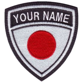 Japan Personalized Crest Embroidered Patch