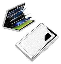 Jazam 1PC! JAZAM RFID SECURE STAINLESS STEEL CARD HOLDER FOR MEN & WOMEN