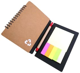 Jazam Eco Notebook With Pen And Sticky Pads