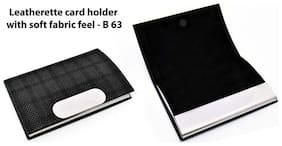 Jazam Leatherette Card Holder With Soft Fabric Feel