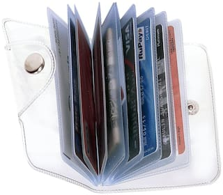 Jeezbier High Quality | Pack of 1 | Stylish Credit/debit/ATM/ID/Visiting SUPER SLEEK, STURDY, Transparent Card Holder(Set of 1)