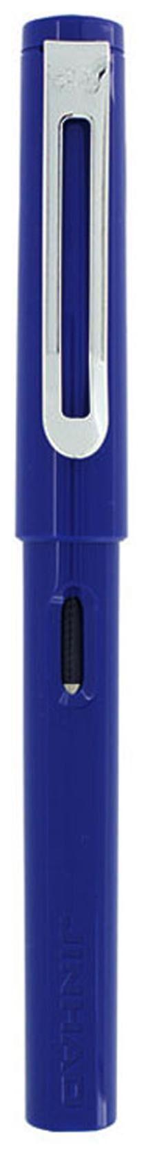 Jinhao 599 Fountain Pen - Gloss Blue And Chrome Clip