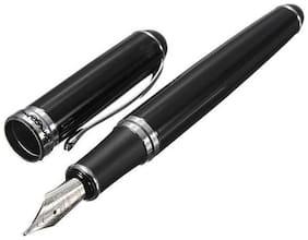 Jinhao X750 Fountain Pen Lacquer Black Fountain Pen Medium Nib With Chrome Trims New