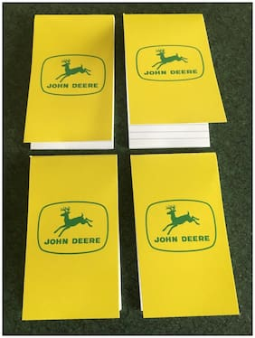 John Deere Pocket Notebook 4 Pack Old Style JD Logo Four Note Pads
