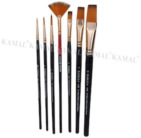 KAMAL  Artist Quality Essential Mix Brush Set for Acrylic Painting;Oil Painting;Modern Art Painting