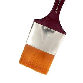 KAMAL Flat chapta Golden Synthetic Hair Painting Brushes (taklon) 63MM