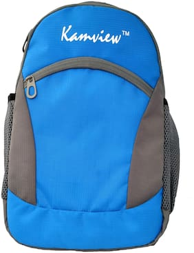 KAMVIEW 16 L School bag & Backpack - Blue & Grey