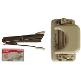 Kangaro Stapler No.10 With Stapler Pins With Paper Punch Machine DP-52
