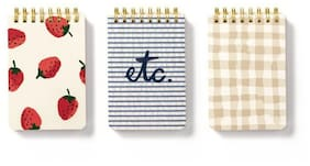 Kate Spade - Spiral Notepad Set - Strawberries
