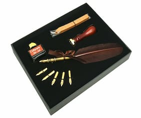 Kentaur Calligraphy Pen Set_SK-092 with Brown Quill Pen