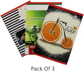 Keny LA 01 NoteBook (20.5x29.3) (Pack of 3) (140 Pages)