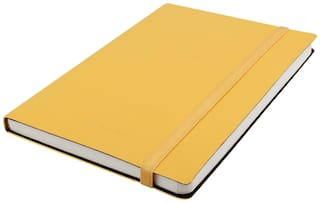 Kevin Danny Leatherette Collection A5 Notebook Yellow