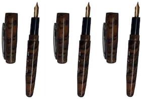 Khyati Sketching Pen 24 Carat Gold Plated Nib Ebony Body - Set Of 3