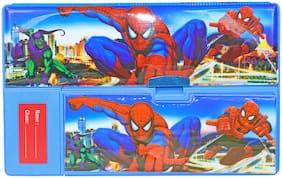 Kids Plastic Jumbo Multipurpose Spiderman Pencil Box
