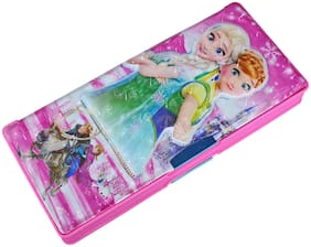 Kids Plastic Jumbo Multipurpose Disney Princes Pencil Box pink
