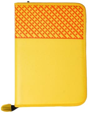 Kittu A4 size (Smaller THAN B4) yellow mix color Executive Files And Folders, Certificate, Documents Holder With 20 Leaf ( size A4 )