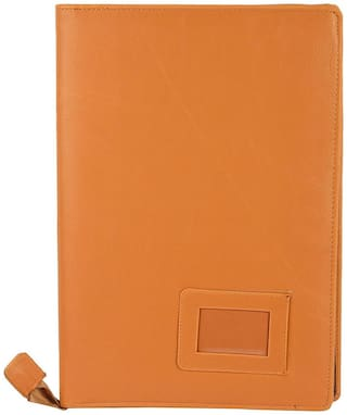 kittu  Document File Holder and loose documents carrier bags with 20 inner pockets materiel - leather colour-light light yellow