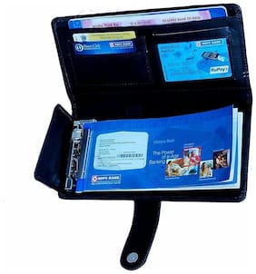 Kittu expanding cheque book multi function holder for Unisex