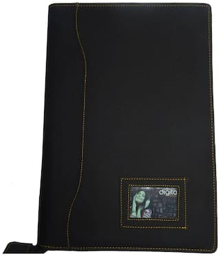 Kittu Leatherette Material Professional Files And Folders, Certificate, Documents Holder With 20 Leafs, | Size-B4, Colour Black