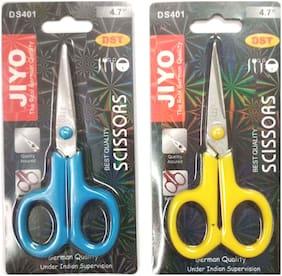 Klent Office Scissor, Size: 4- inch Combo of 2 pcs  Mix Color  Random Color ( 2 pcs )