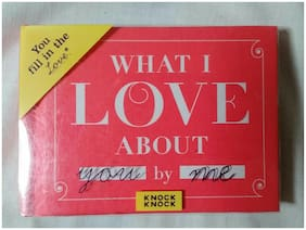 KNOCK KNOCK WHAT I LOVE ABOUT  SMALL FILL IN LOVE BOOK HARDCOVER