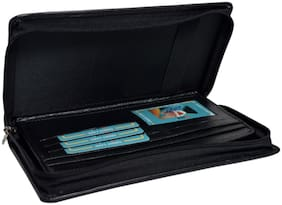 Knott Black Multi Cheque Book Holder