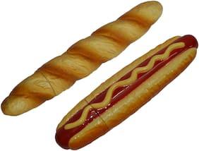 Knott Hotdog &Baguette shape fancy writing ball pen Combo