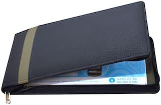 Knott Multiple Cheque Books Holder  (Black)