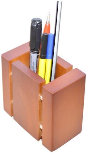 Knott Wooden Pen/Pencil Holder 1 Compartments