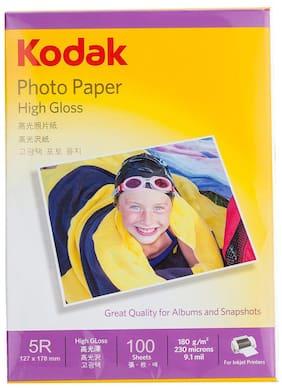 Kodak 180 GSM 5R (5 x 7) Photo Paper High Glossy (2 x 100 Sheets)