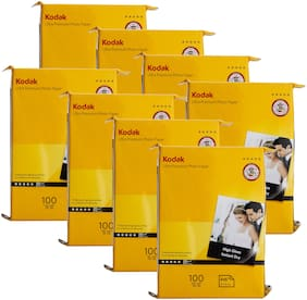 Kodak 4R(4x6) Photo Paper (102x152mm) 280gsm High Glossy Water Proof Instant Dry For All Inkjet Printers  Set of 8 (800 Sheets)