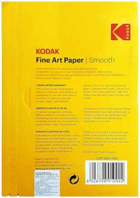 KODAK Fine Art Paper Canvas A4 (210X297mm) Photo Paper 230 GSM 20 Sheets
