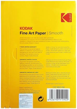 KODAK Fine Art Paper Canvas A4 (210X297mm) Photo Paper 230 GSM 20 Sheets