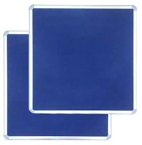 Kohinoor Blue Pin Up Notice Board 61 x 61 cm,Set of 2