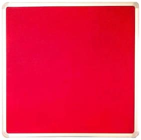 Kohinoor Red Pin Up Notice Board 61 x 61 cm