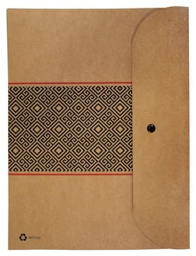 Kraft Paper A4 Folder  (Set Of 1, Kraft)