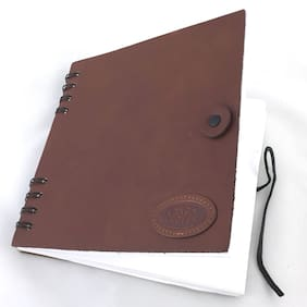Land Rover Logo Leather Paper Blank Notebook-by Mulholland Brothers - 1 piece