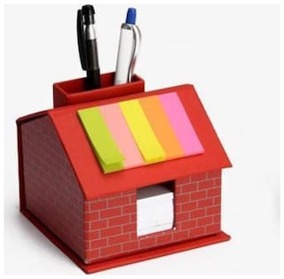 Laps Of Luxury Hut Style Table Top With Pen Stand, Sticky Notes And Writing Slips (250 Sheets)
