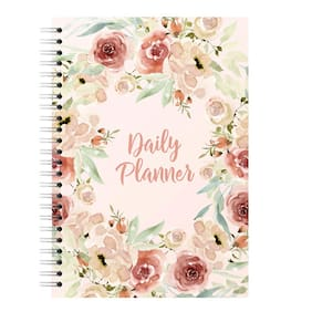 Lauret Blanc Undated Daily Planner and Organizer,  Schedule Your Day, Achieve Goals, Manage To Do List- A5, 160 Pages (Plan for 80 days), 80 GSM
